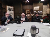 January 5, 2016: NTX NRHS Meeting at the Garland Railroad Museum: (L-R):  Bob Kennedy, Claude Doane, and Skip Waters